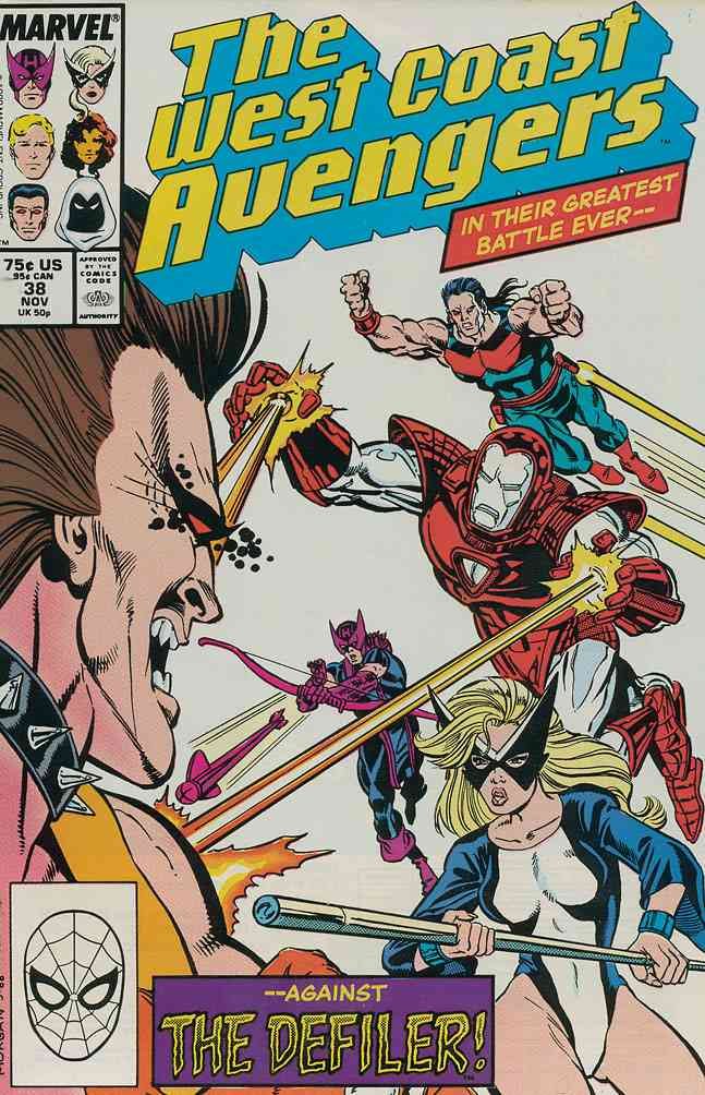 West Coast Avengers comic issue 38